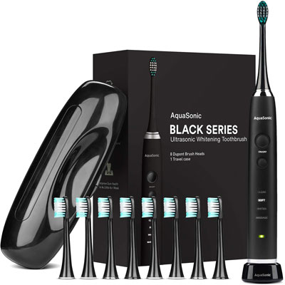 2. AquaSonic Ultra Whitening Toothbrush – Black Series