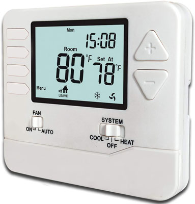 10. Heagstat 5-1-1-Day Single Stage Programmable Thermostat (H705)