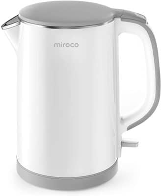 5. Miroco Double Wall Electric Kettle, White