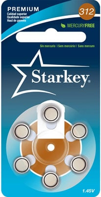 7. Starkey 60 Pack Hearing Aid Batteries