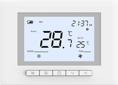 9. LucaSng Ubipol Digital 7 Days Programmable Manual Thermostat