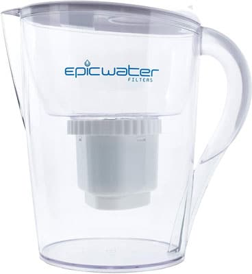 1. Epic Pure Water Filter Pitchers for Drinking Water, Large