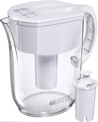 9. Brita Water Pitcher with 1 Filter, White