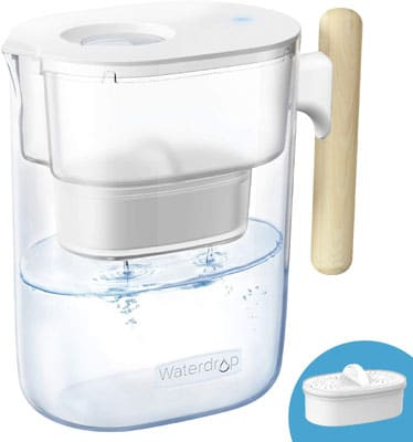 3. Waterdrop Chubby 10-Cup Water Filter Pitcher