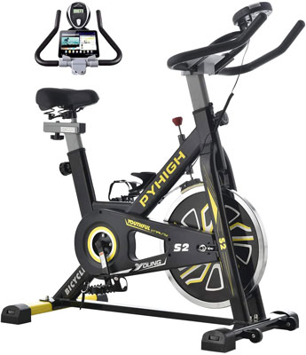 1. PYHIGH Indoor Cycling Bike Stationary Exercise Bike