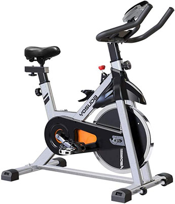 2. YOSUDA Gray Indoor Cycling Bike Stationary
