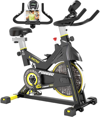 8. pooboo Indoor Cycling Exercise Stationary Bike