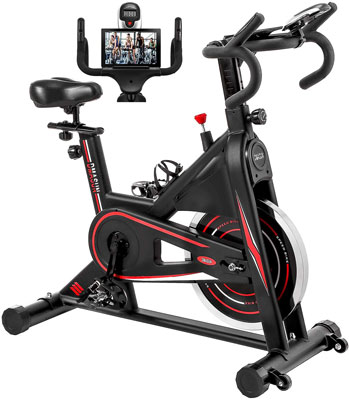 10. DMASUN Indoor Cycling Exercise Bike Stationary (Black)
